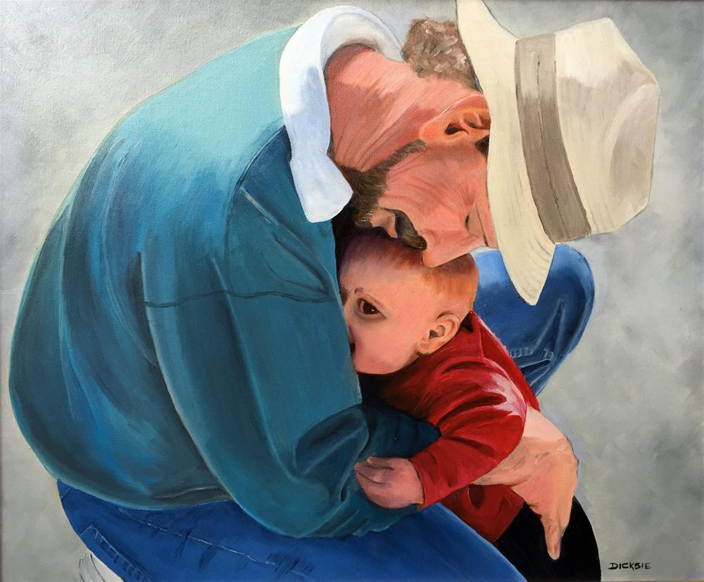 """""""Baby Whisperer"""" original fine art by Dicksie McDaniel"""