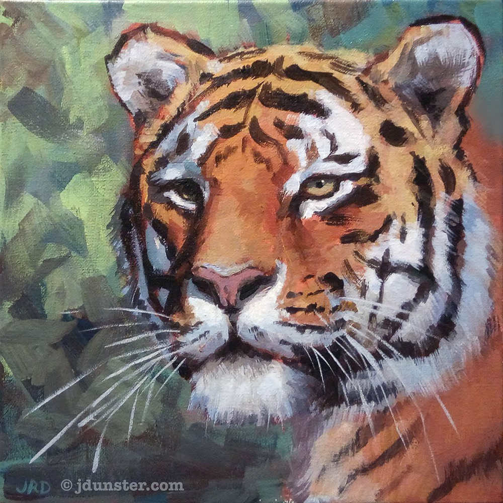 """Mellow Tiger"" original fine art by J. Dunster"