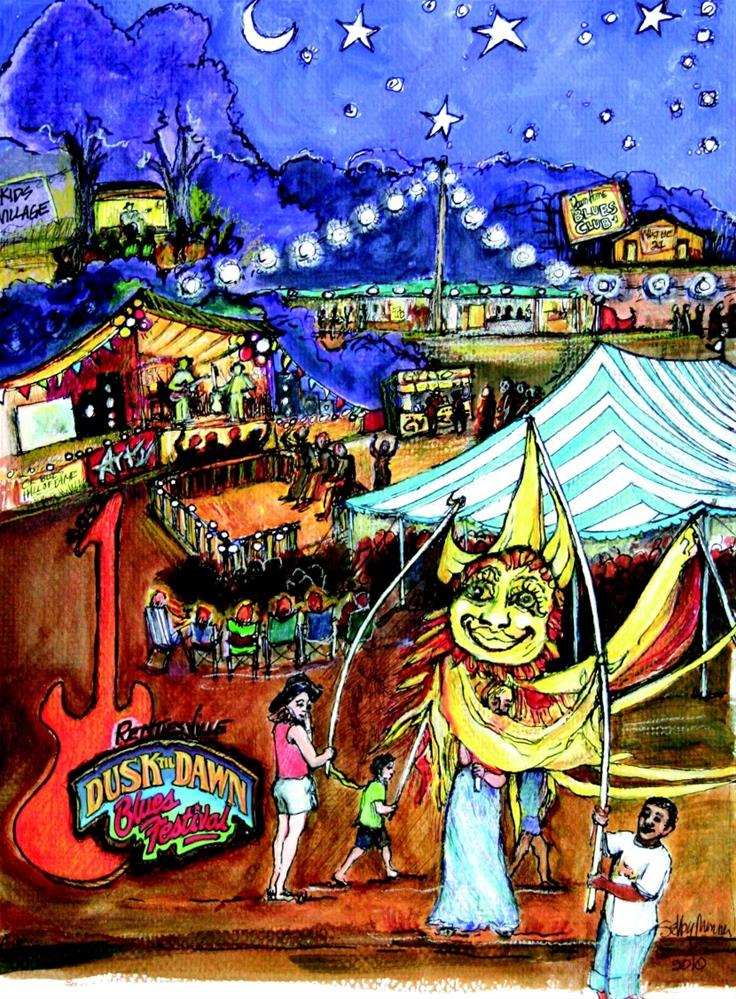 """""""Rentiesville Festival by Selby Minner"""" original fine art by Selby Minner"""