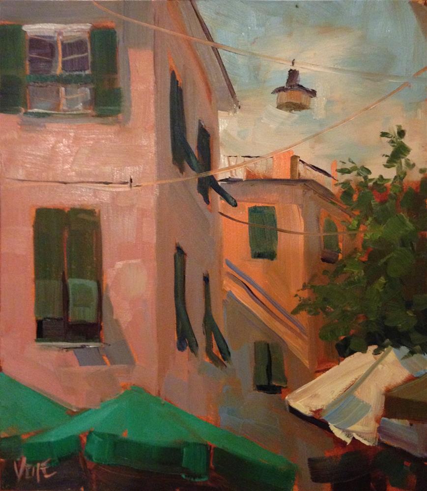 """""""#170 Cinque Terre, Monteroso, Italy #3"""" original fine art by Patty Voje"""