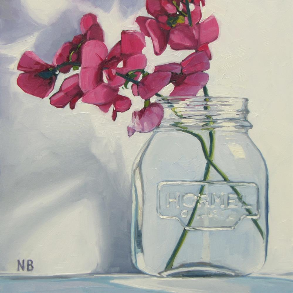 """Peas Sweet Peas"" original fine art by Nora Bergman"
