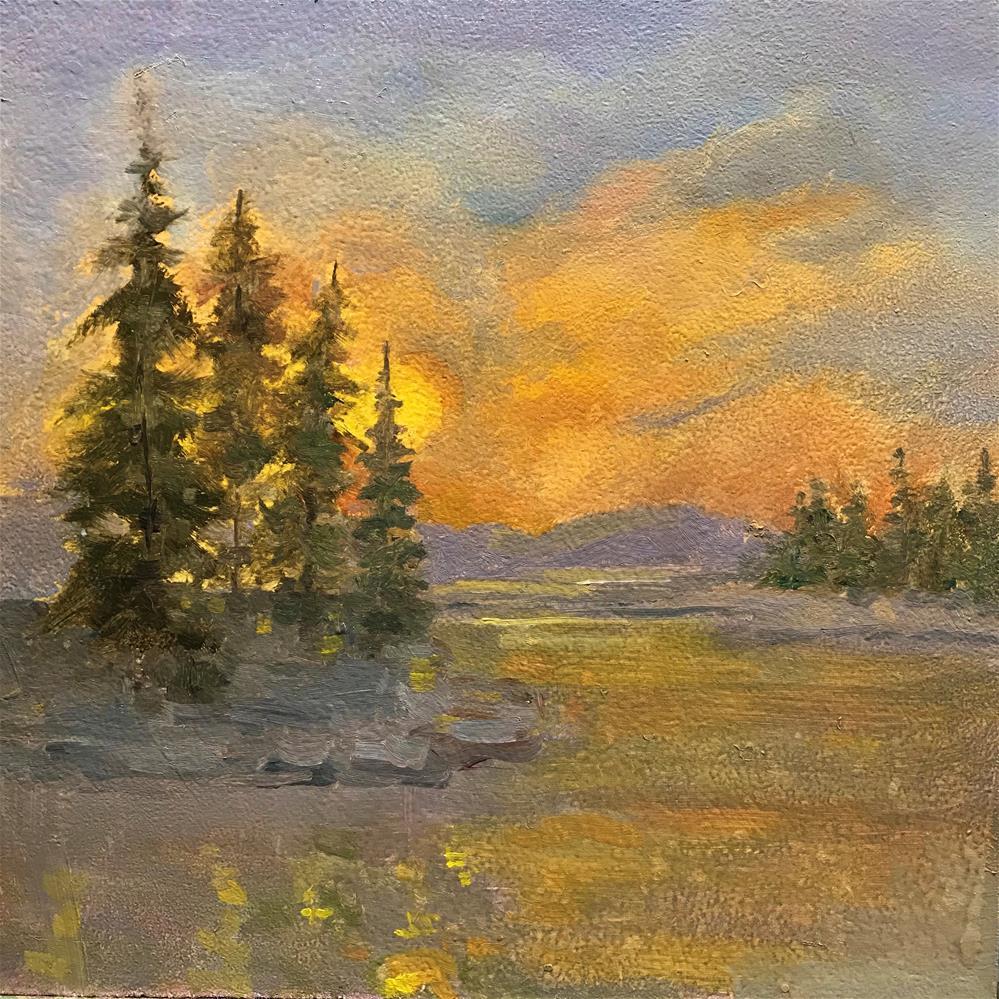 """bright sunset"" original fine art by Betty Argiros"