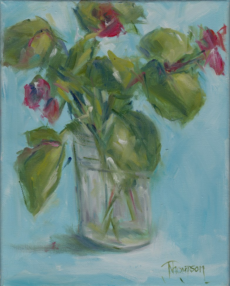 """Begonia 1"" original fine art by Norma Thompson"