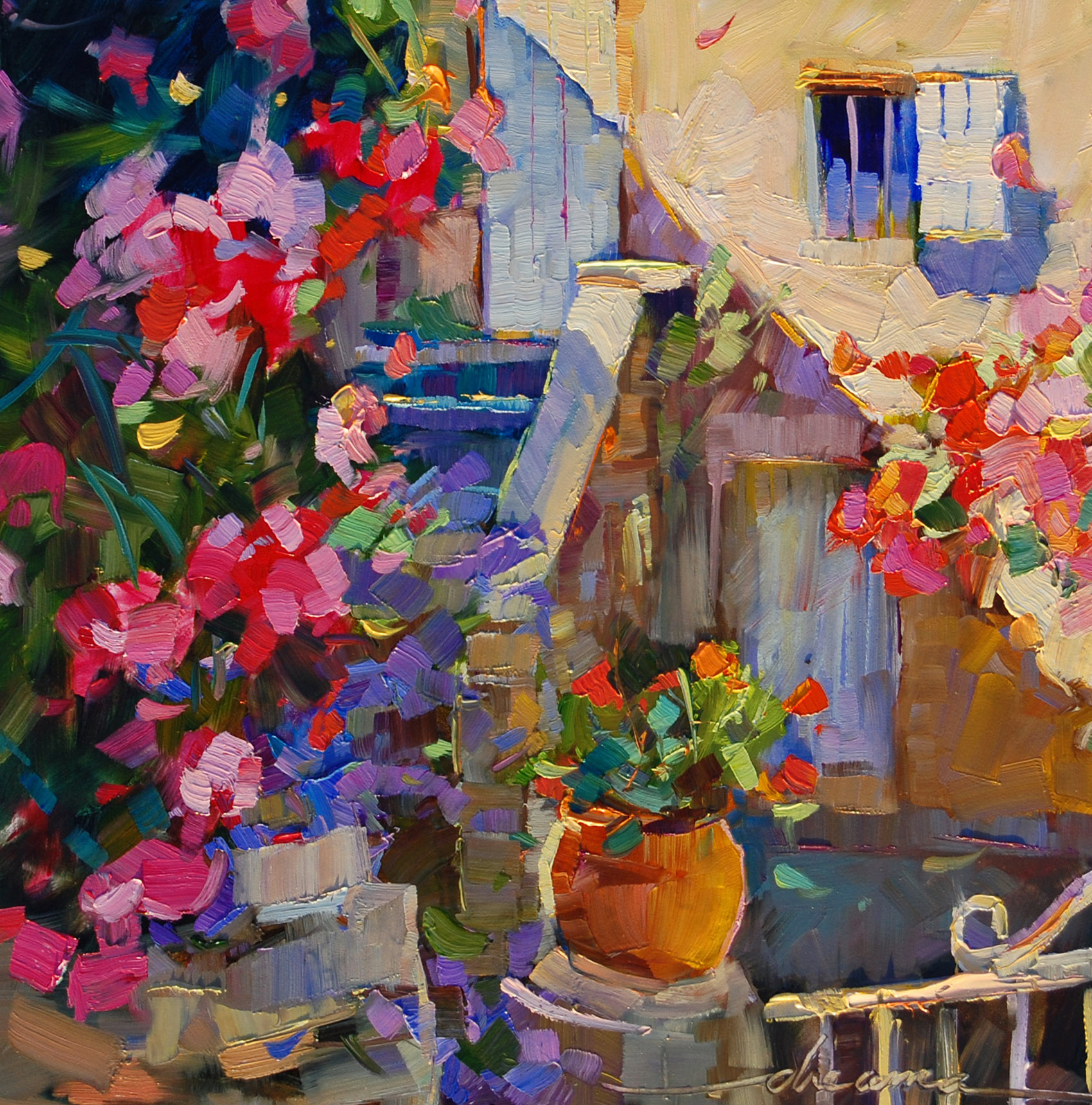 """""""Rosie Days Ahead in France"""" original fine art by Dreama Tolle Perry"""