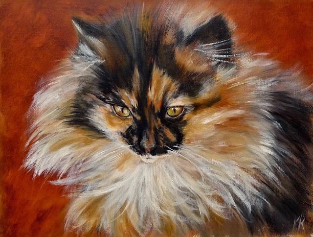 """Little Tortie"" original fine art by Karen Robinson"