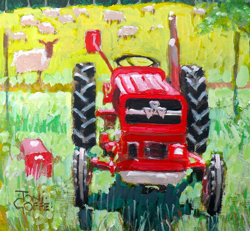 """""""The Red Sheep"""" original fine art by Toni Goffe"""