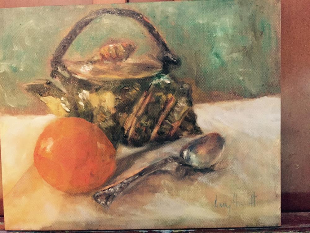 """""""Shell Tea Pot"""" original fine art by Lucy Hammett"""