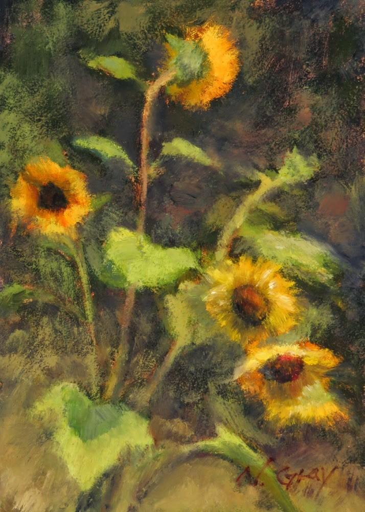"""""""Sunflowers No. 3"""" original fine art by Naomi Gray"""