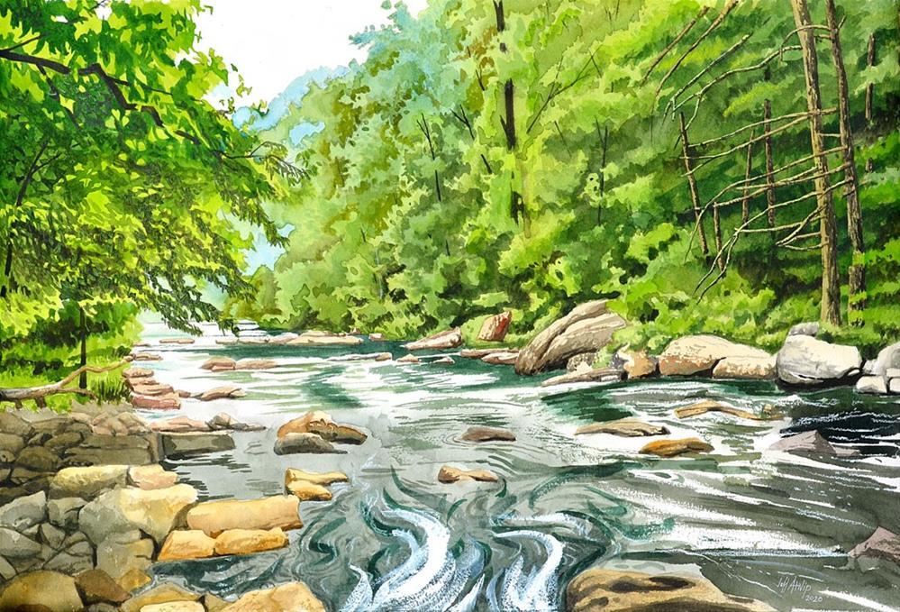 """Tellico River View"" original fine art by Jeff Atnip"