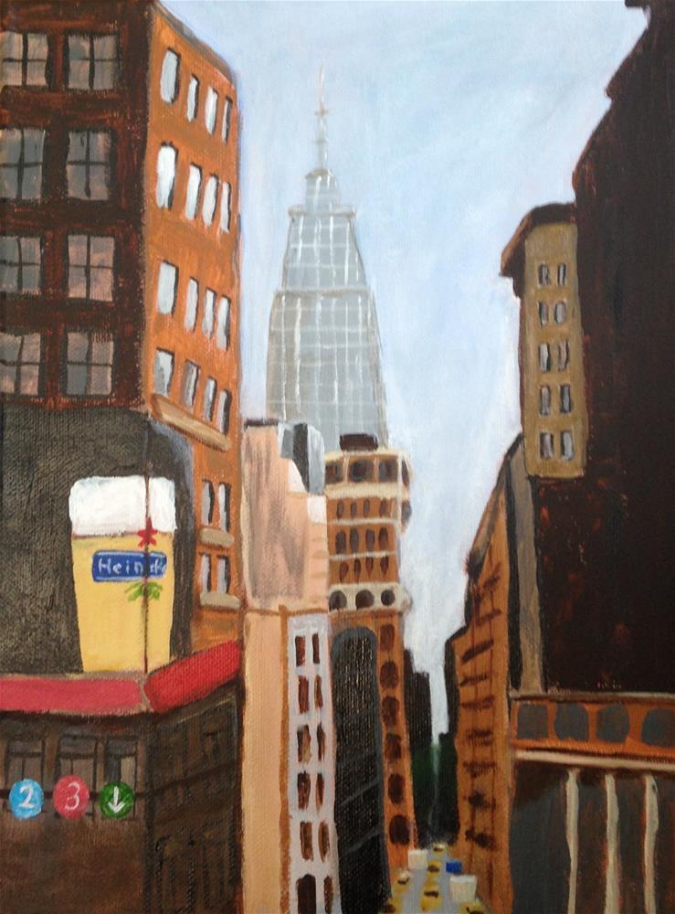 """""""Empire State Building"""" original fine art by Brenda Smith"""