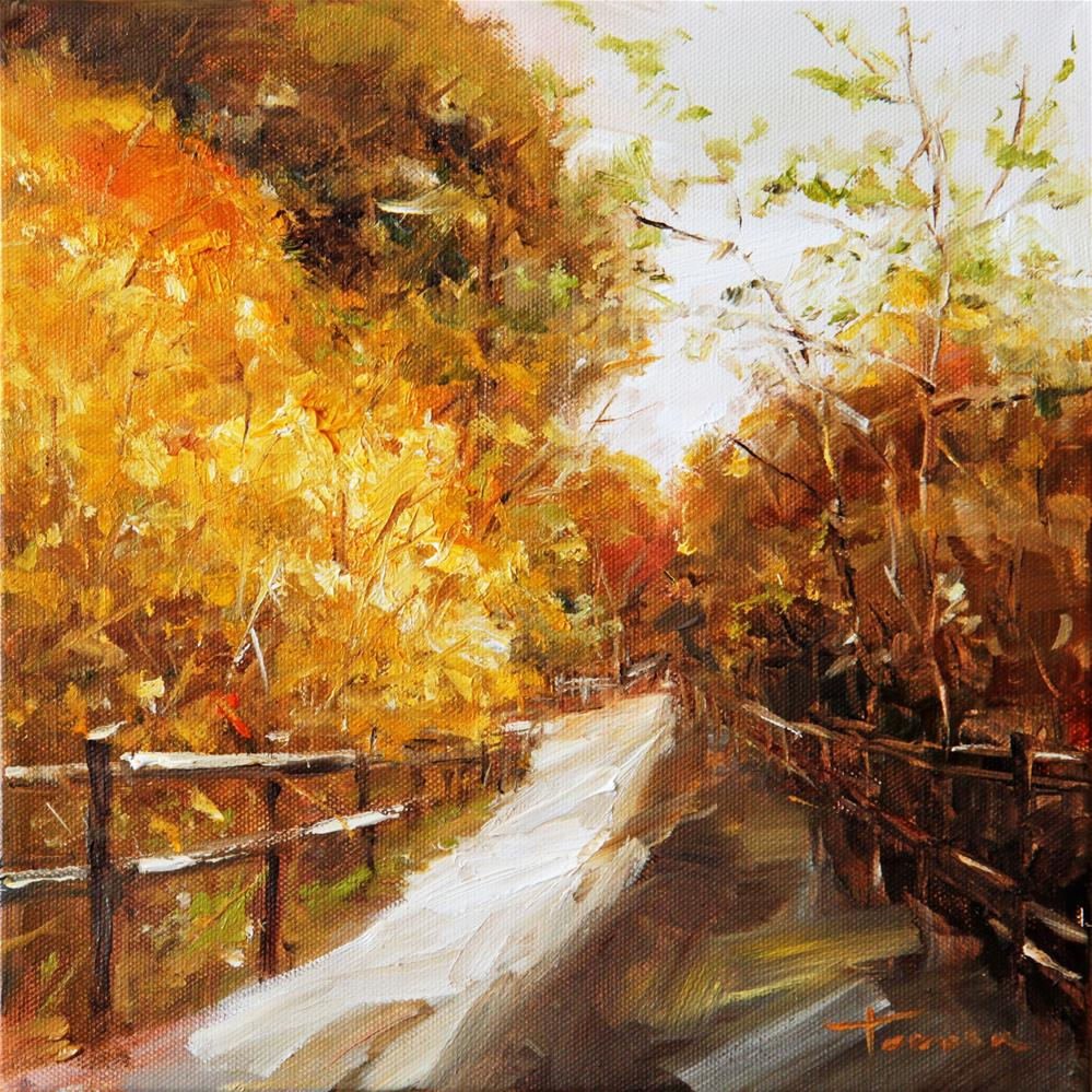 """Autumn Melody"" original fine art by Teresa Yoo"