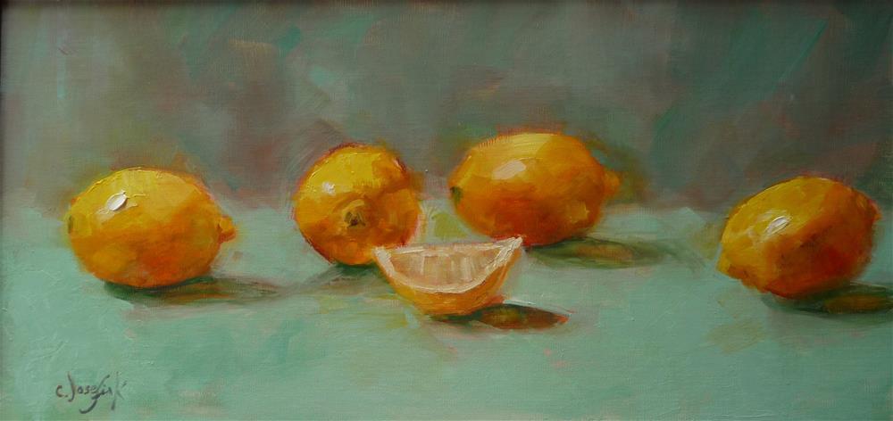 """Lemons"" original fine art by Carol Josefiak"