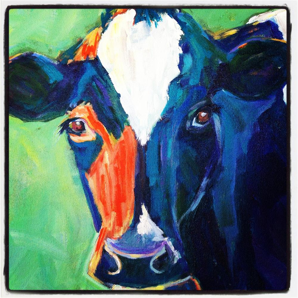 """Crazy for Cows-1"" original fine art by Beth Carrington Brown"
