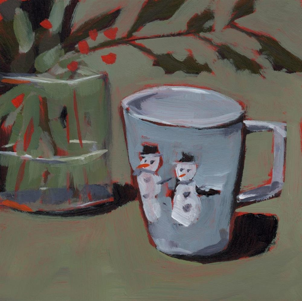 """0286: Frosty and a Friend"" original fine art by Brian Miller"