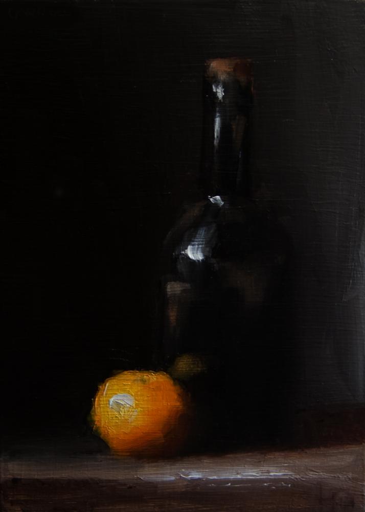 """""""Bottle"""" original fine art by Neil Carroll"""