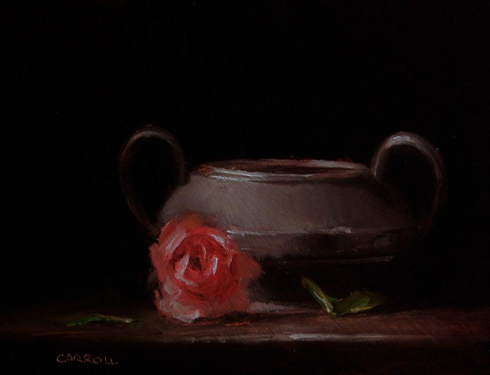 """""""Pewter Sugar Bowl"""" original fine art by Neil Carroll"""
