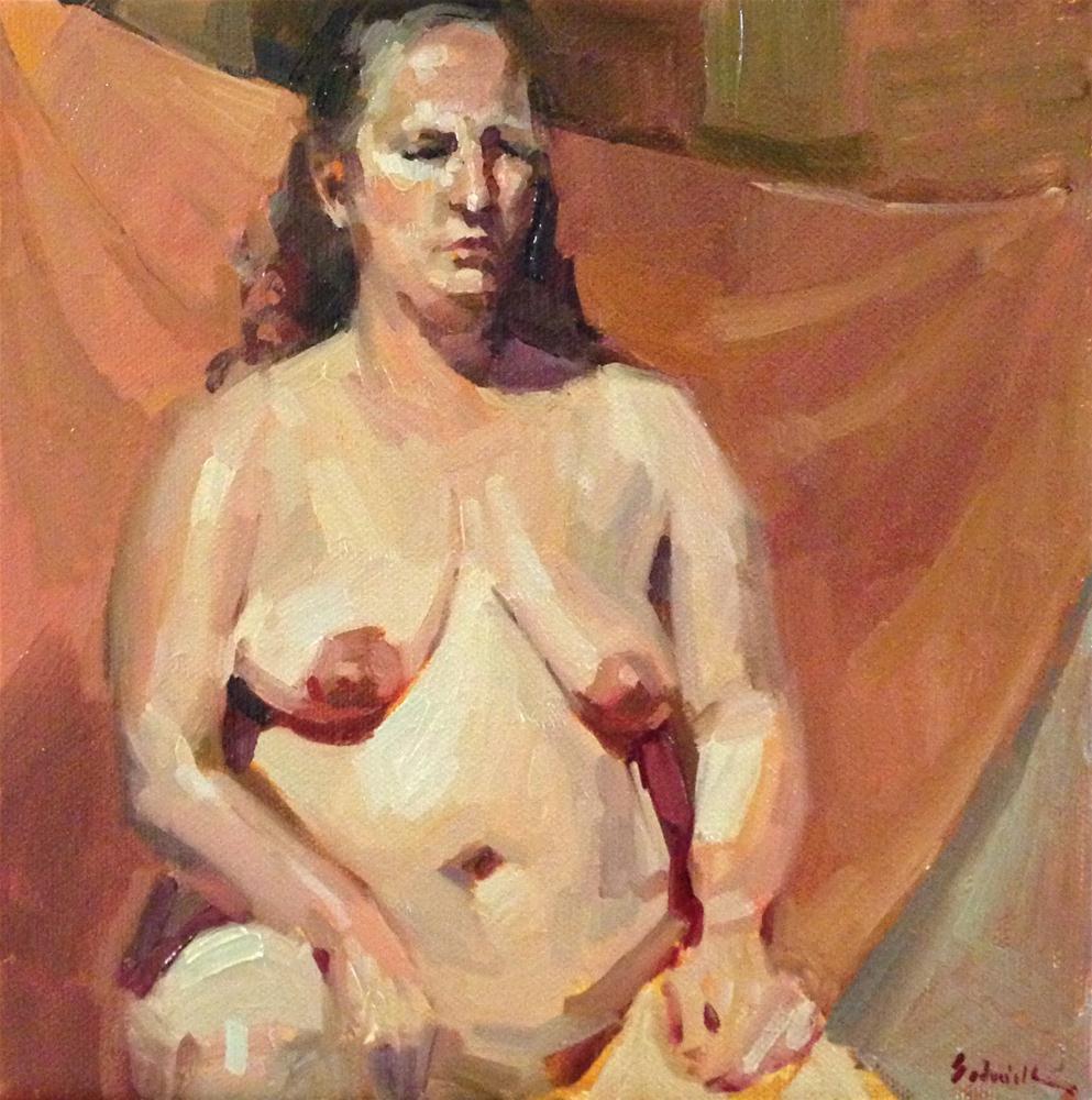 """Two figure sketches in oil"" original fine art by Sarah Sedwick"