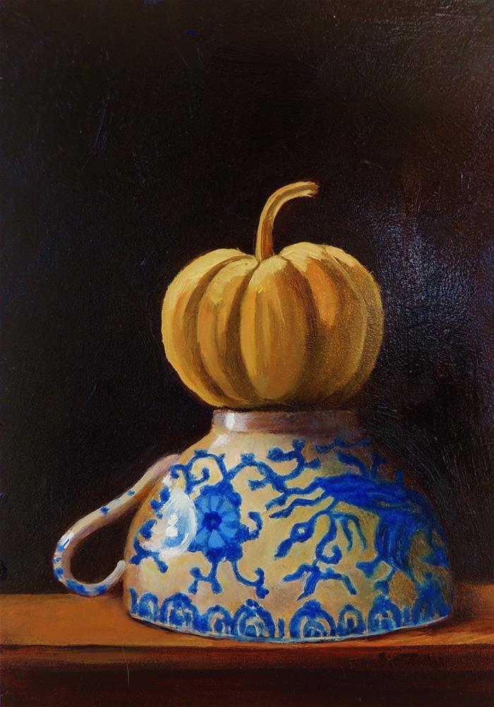 """Pumpkin Top"" original fine art by Sharon Egan"