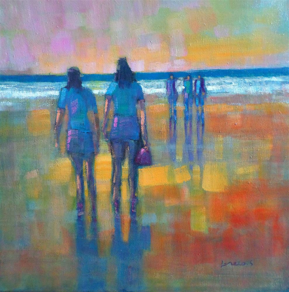 """walk to the beach"" original fine art by salvatore greco"