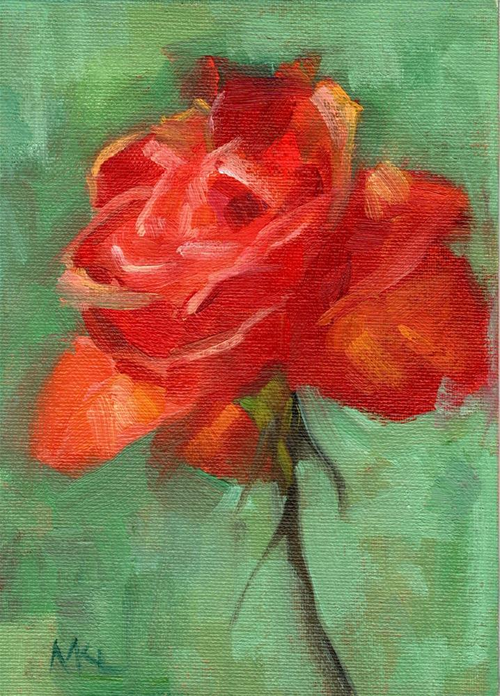"""The Red Rose"" original fine art by Marlene Lee"