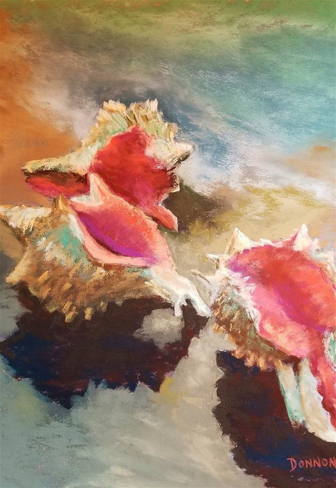 """""""By The Sea"""" original fine art by Donna Donnon"""