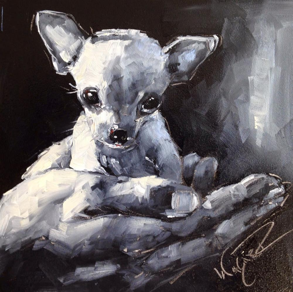 """CONTEMPORARY CHIHUAHUA DOG PAINTING in OILS by OLGA WAGNER"" original fine art by Olga Wagner"