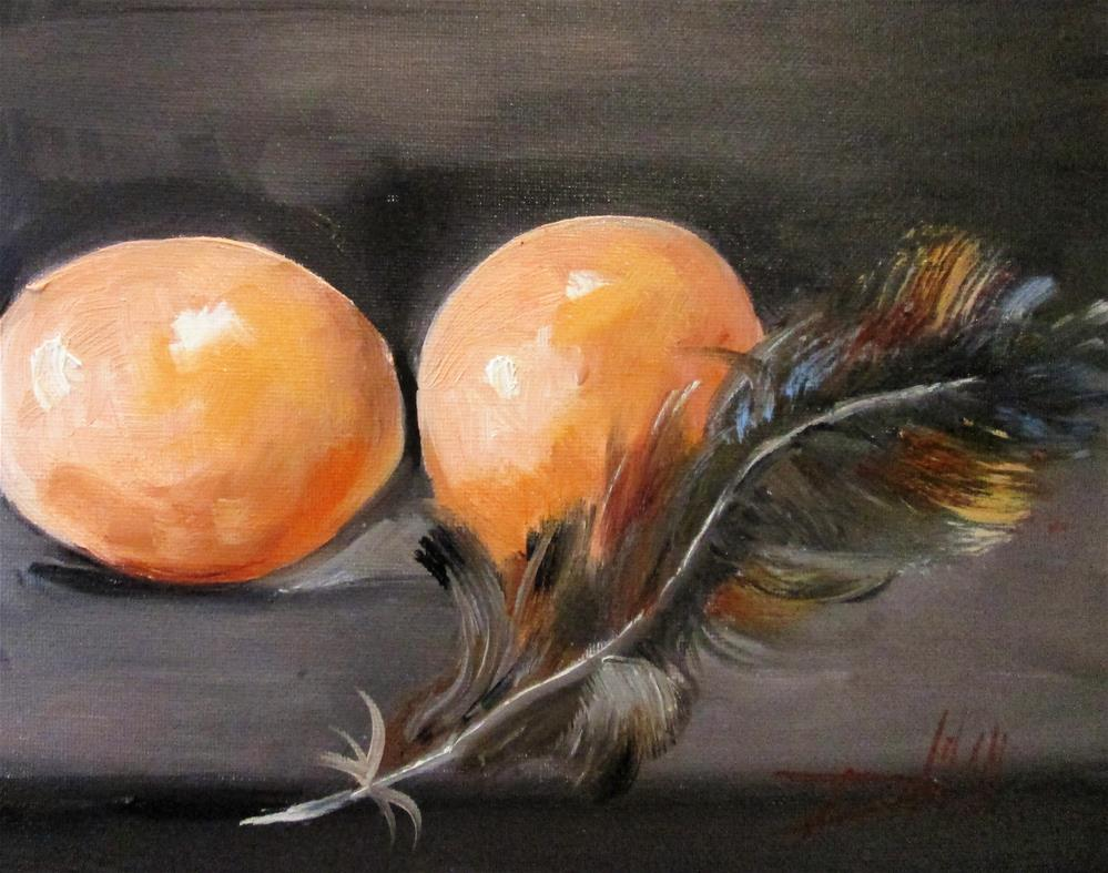 """Eggs and Feather"" original fine art by Delilah Smith"