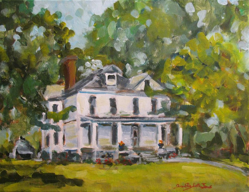 """Main Street c1870"" original fine art by Susan Elizabeth Jones"
