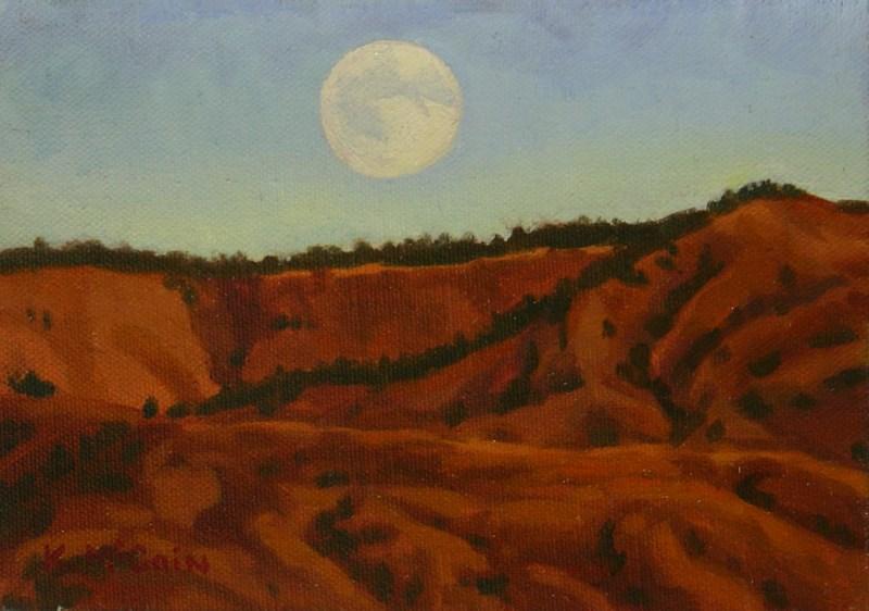 """Soft Moonlight"" original fine art by K.R. McCain"