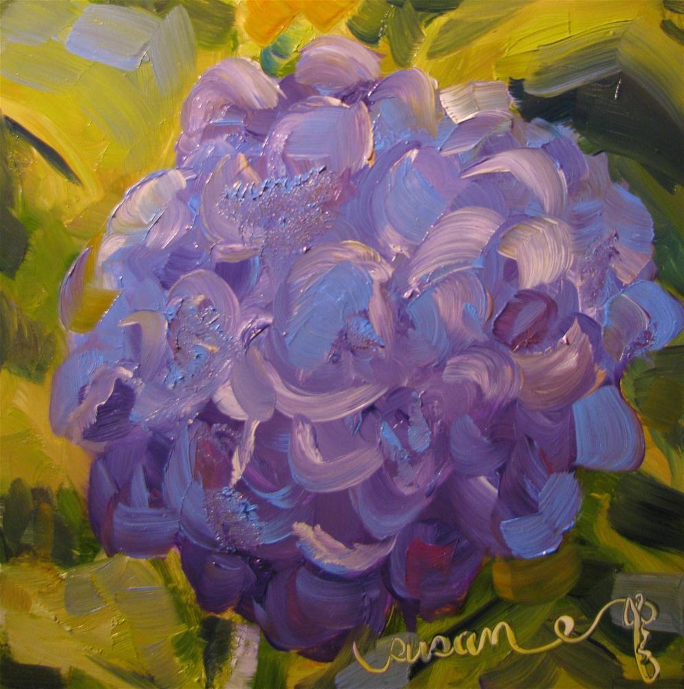 """""""Hydrangea Down the Street"""" original fine art by Susan Elizabeth Jones"""