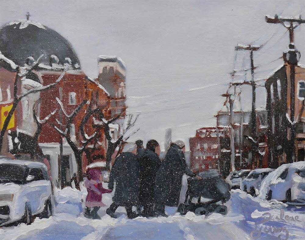 """1073 Snow Queens, 8x10, oil on board"" original fine art by Darlene Young"