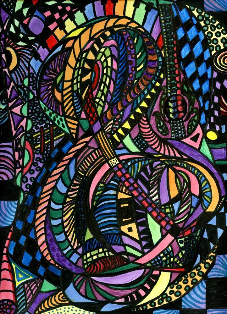 """""""Music In My Soul"""" original fine art by Lendel Holmes"""