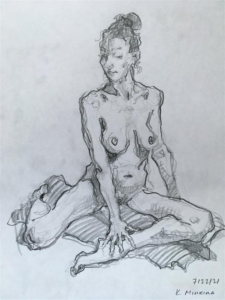 """Figure67"" original fine art by Katya Minkina"