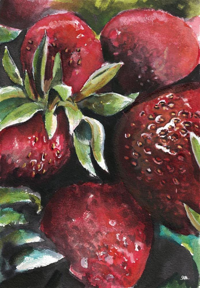 """""""3142 Erdbeere"""" original fine art by Dietmar Stiller"""