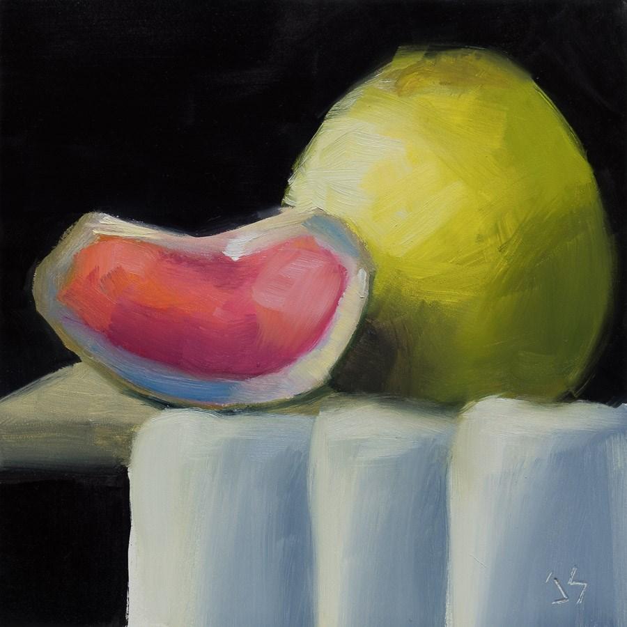 """""""Pink Grapefruit"""" original fine art by Johnna Schelling"""