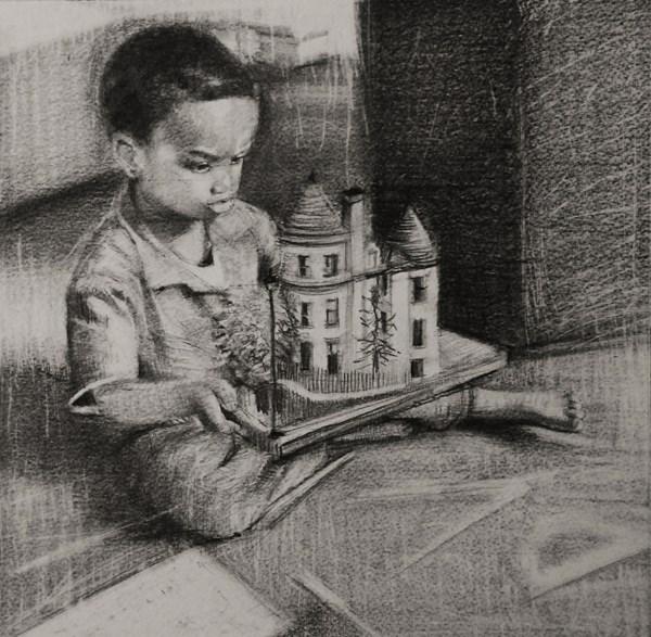 """""""Kids, Life, Art and Stuff VI"""" original fine art by Adebanji Alade"""