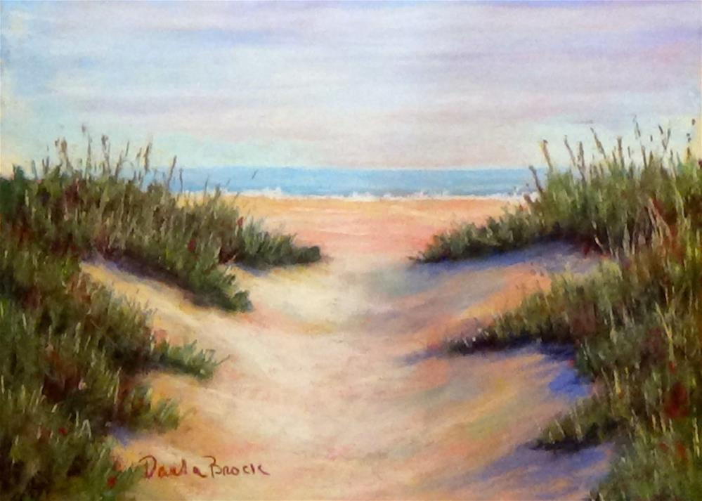"""A Walk on the Beach"" original fine art by Darla Brock"