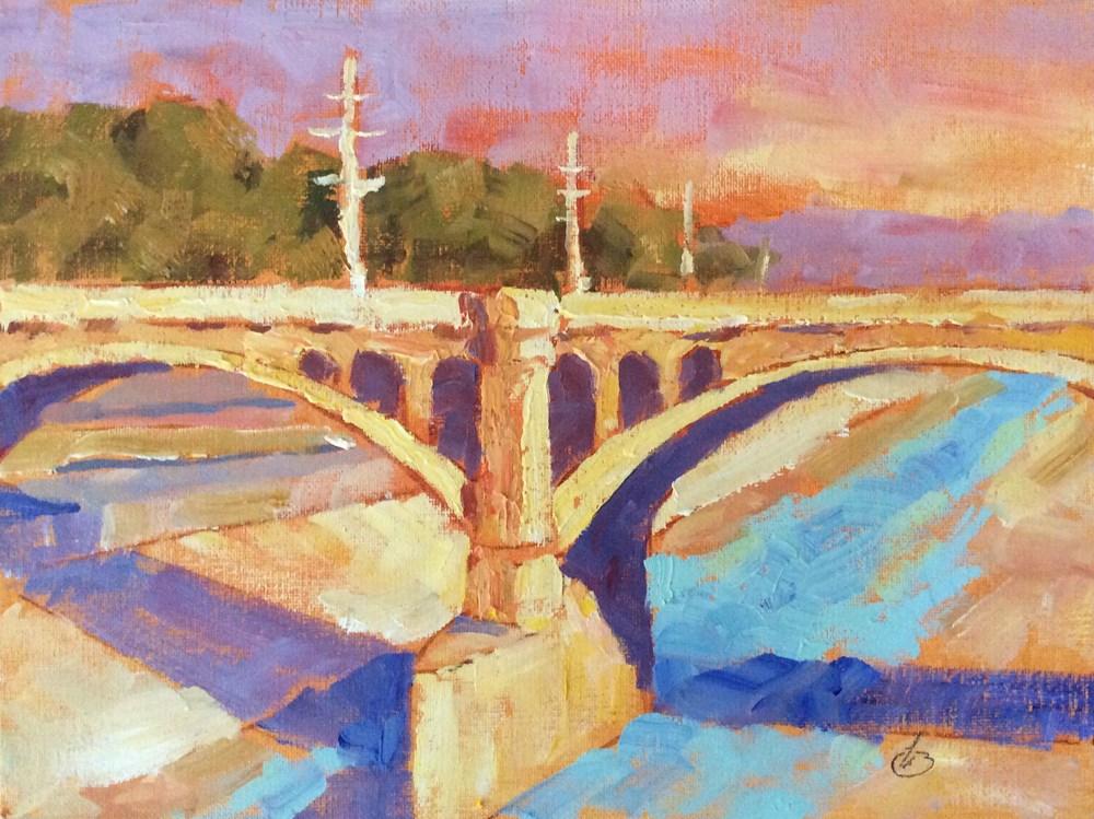 """""""L. A. RIVER"""" original fine art by Tom Brown"""