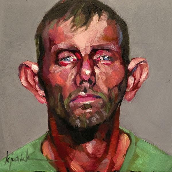 """200 Faces, No. 110"" original fine art by Karin Jurick"
