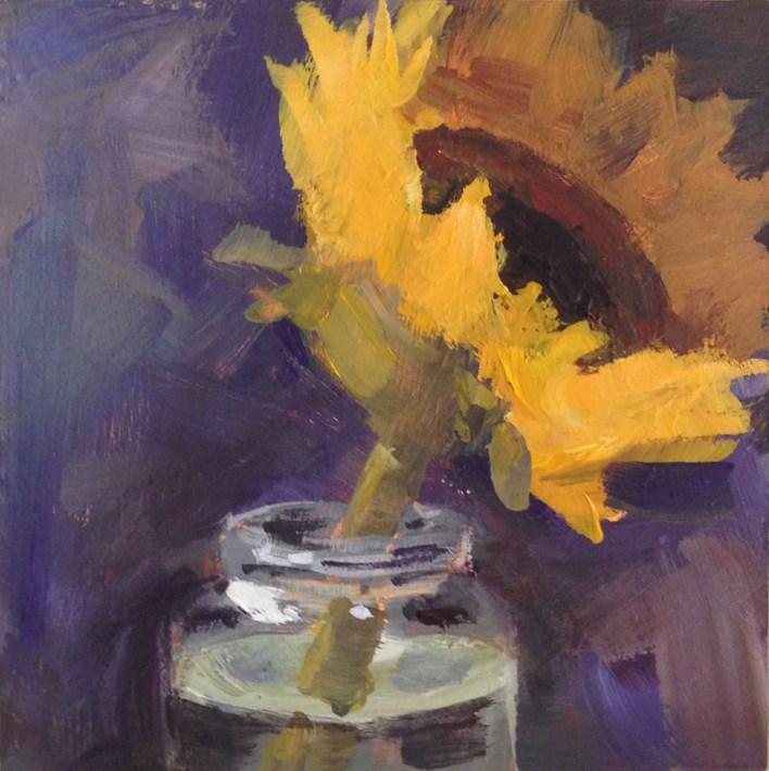 """Single Sunflower"" original fine art by Shannon Bauer"