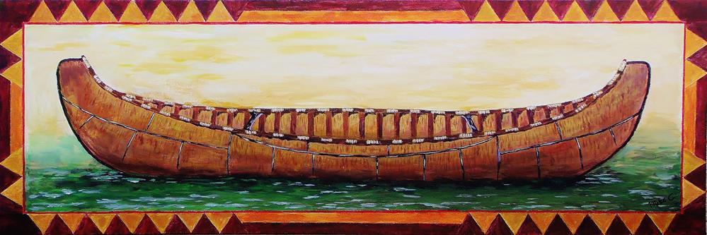 """Birch Bark Canoe"" original fine art by Mike Caitham"