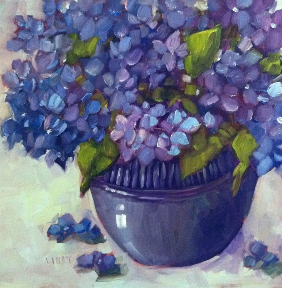 """""""Blues on Monday"""" original fine art by Libby Anderson"""