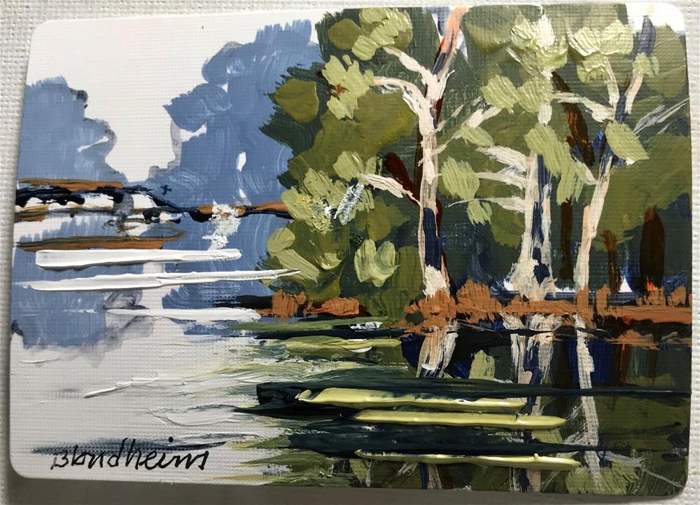 """Lake Santa Fe"" original fine art by Linda Blondheim"