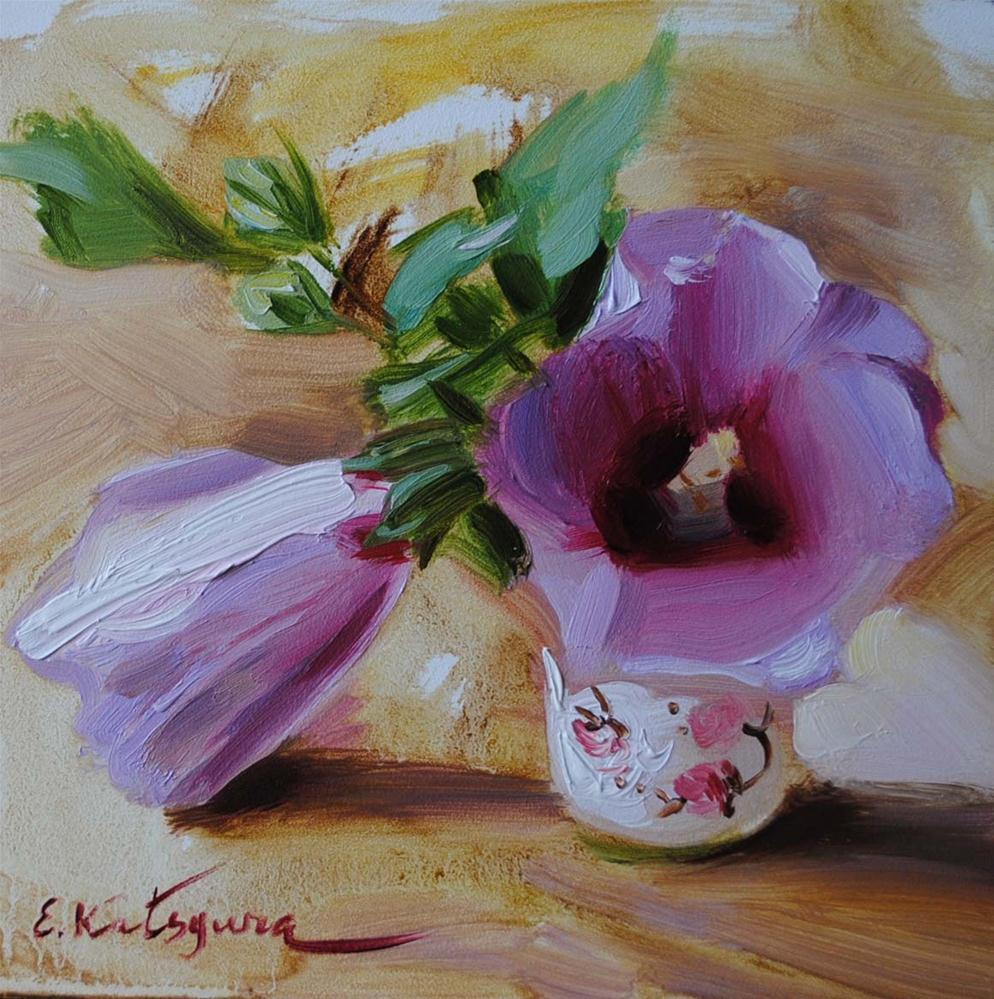 """Flowers"" original fine art by Elena Katsyura"