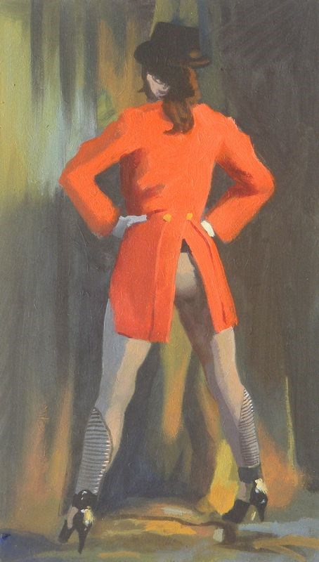 """Red Coat"" original fine art by Peter Orrock"
