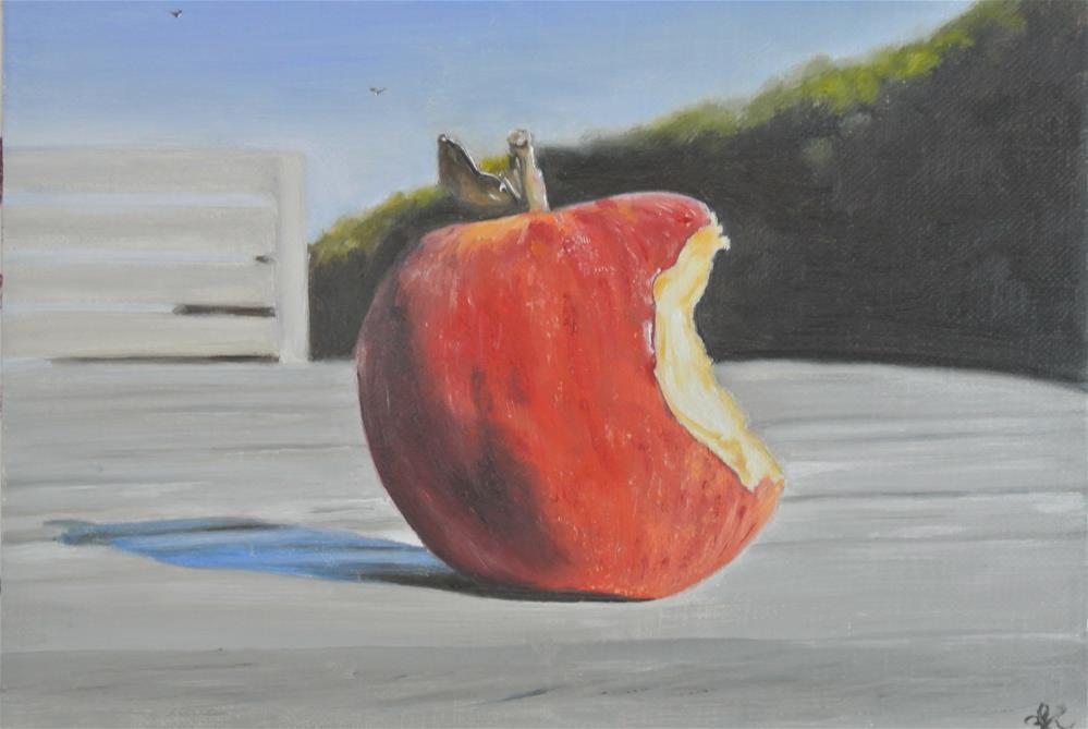 """Bitten Apple"" original fine art by James Coates"