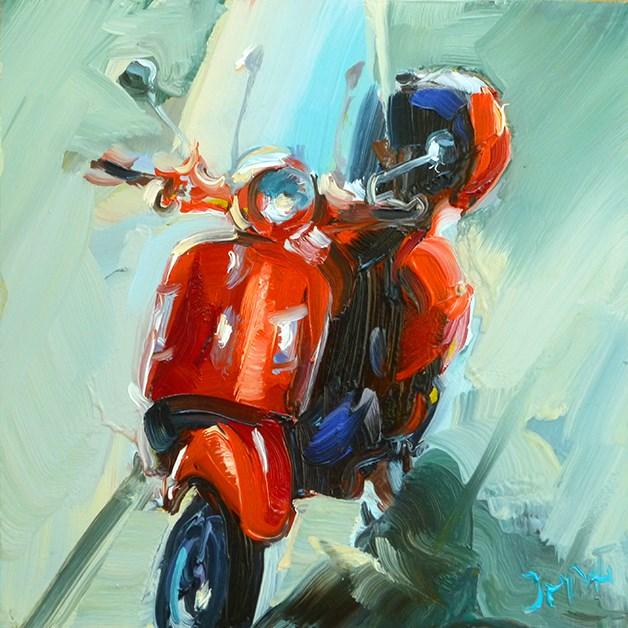"""""""schöne roller"""" original fine art by Jurij Frey"""