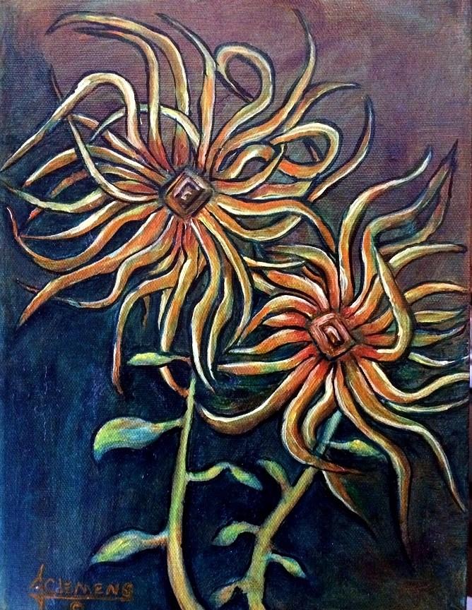"""Spring Flowers"" original fine art by Jolynn Clemens"