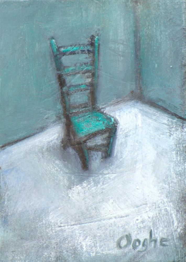"""""""Lonely Chair ACEO"""" original fine art by Angela Ooghe"""