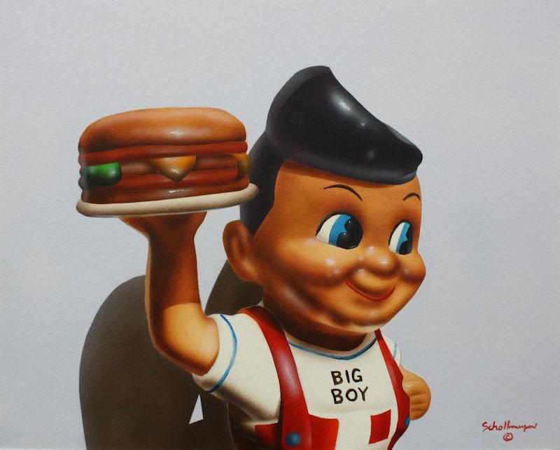 """Bob's Guy"" original fine art by Fred Schollmeyer"